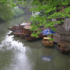 Tiger Hill gondolas at dock